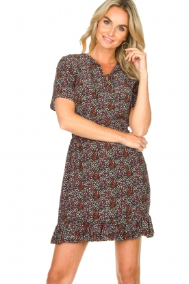 Freebird |  Floral dress Noena | black