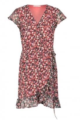 Freebird | Dress with flowerprint Rosy | black