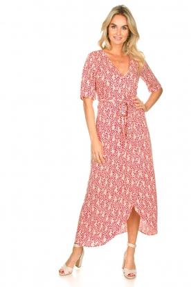 Freebird | Maxi-jurk met print Levi | rood