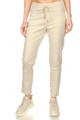 Aaiko | Pantalon met lurex strepen Poppi | off-white