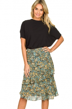 Aaiko | Skirt with print Arida | blue