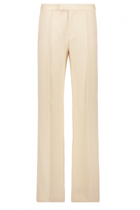 Aaiko |  Wide leg trousers Chantalle | naturel