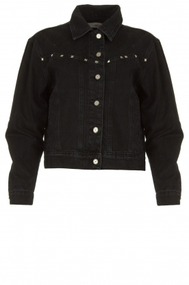 Aaiko | Short denim jacket with studs Bryenne | black