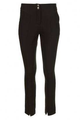 Aaiko |  Pantalon with seams Tamar | black
