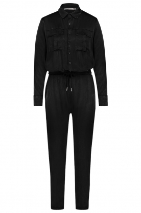 Aaiko |  Jumpsuit with drawstring Havane Vis | black