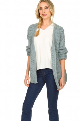 Aaiko |  Knitted cardigan Artessa | blue