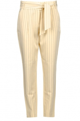 Aaiko | Pinstripe trousers Wyatt | natural