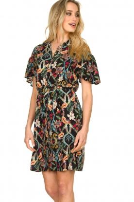 Aaiko    Floral dress Varsha   black