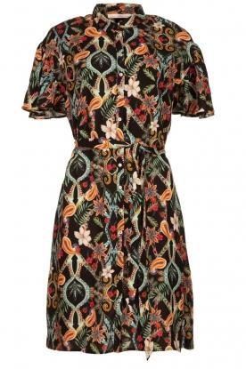 Aaiko |  Floral dress Varsha | black