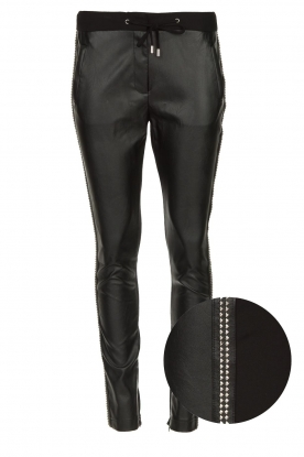 Aaiko |  Faux leather studded pants Sosa | black