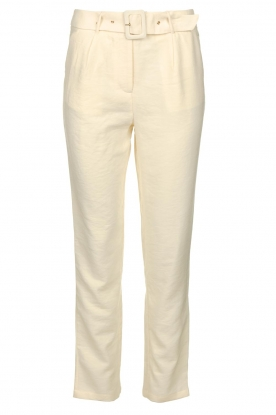 Aaiko |  Pants with belt | naturel