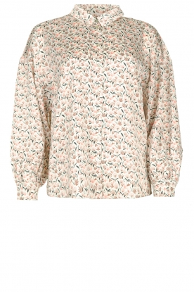 Aaiko | Floral printed blouse Seven | white