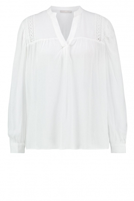 Aaiko |  Embroidered top Amira | white
