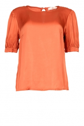 Aaiko |  Top with pleats Sanna | red