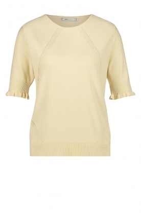 Aaiko | Top with ruffles Raissa | natural