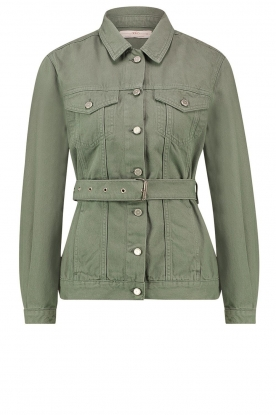 Aaiko | Belted jacket Caily | green