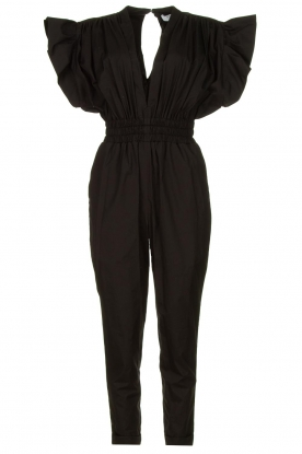 IRO |  Jumpsuit with wide ruffle sleeves Pleona |  black