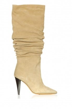 IRO | Suede pull-on boots Bailey | light green
