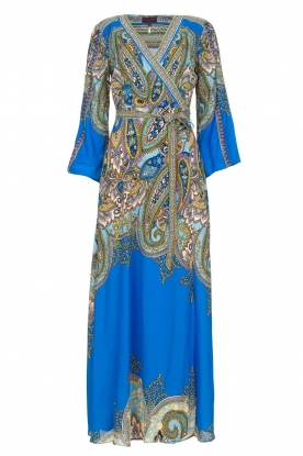 Hale Bob | Printed maxi dress Chesse | blue