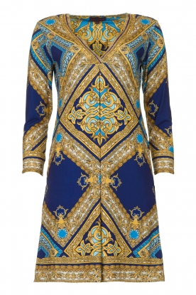 Hale Bob |  Microfibre dress Renaissance  | blue