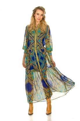 Hale Bob |  Printed maxi dress Jules | blue