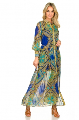 Hale Bob |  Printed maxi dress Jules | blue