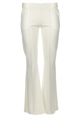D-ETOILES CASIOPE |  Wrinkle-free stretch trousers Rodez | white