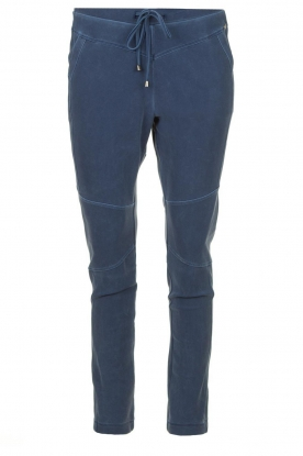 D-ETOILES CASIOPE |  Wrinkle-free stretch pants with denim look Tate | blue