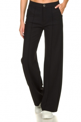 D-ETOILES CASIOPE |  Wrinkle-free stretch trousers Trixie | black