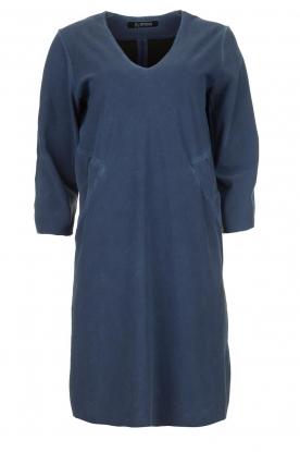 D-ETOILES CASIOPE |  Wrinkle-free stretch dress with denim look Toujours | blue