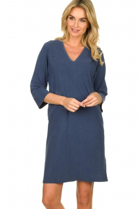 D-ETOILES CASIOPE |  Travelwear dress with denim look Toujours | blue