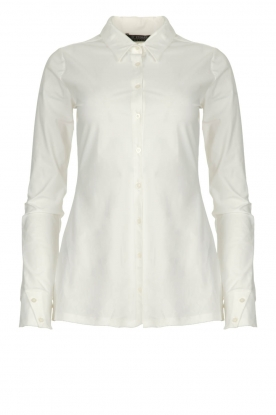 D-ETOILES CASIOPE |  Wrinkle-free stretch blouse Petite | white