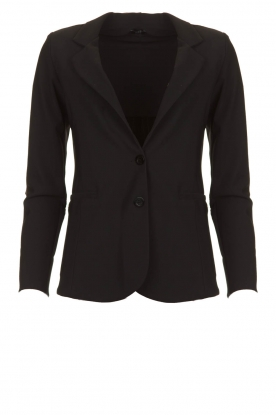 D-ETOILES CASIOPE |  Wrinkle-free stretch blazer Saintes | black