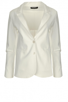 D-ETOILES CASIOPE |  Wrinkle-free stretch blazer Saintes | white