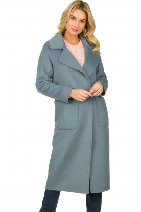Clairval |  Wool coat Carole | blue