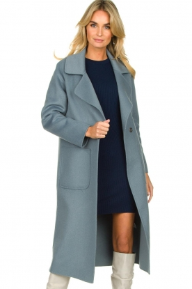 Clairval |  Super soft coat Carole | blue