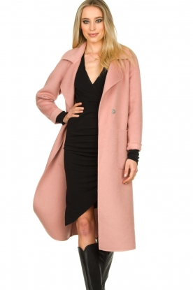 Clairval |  Super soft coat Carole | pink