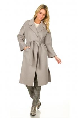 Clairval    Wool wrap coat Lou   grey