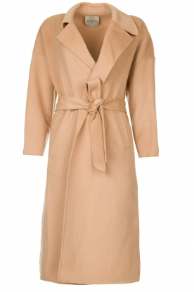 Clairval |  Wool wrap coat Lou | camel