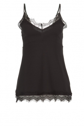 Set |  Cami with lace Chenna | black