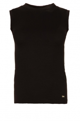 Lune Active | Sleeveless rib top Bamboo | black