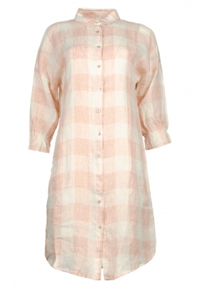 JC Sophie | Linen checkered blouse dress Delhi | nude