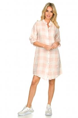 Look Linen checkered blouse dress Delhi