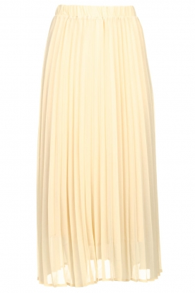 JC Sophie | Long pleated skirt Deloris | beige