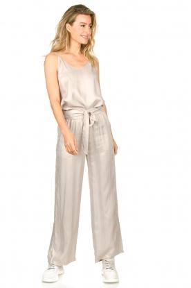 JC Sophie |  Belted wide leg trousers Darwin | grey