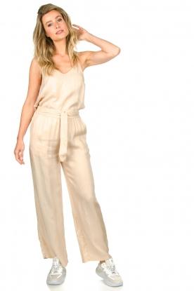 JC Sophie |  Belted wide leg trousers Darwin | beige