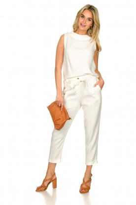 JC Sophie |  Linen pants Debora | white