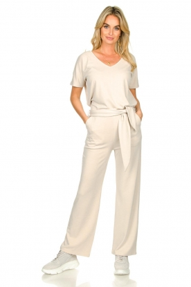 JC Sophie |  Modal pants with belt Dream | beige