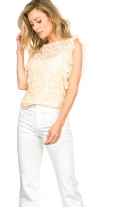 JC Sophie |  Lace top Denise | Beige