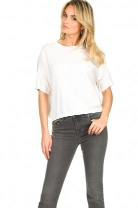 JC Sophie |  Basic sweater Dijon | white